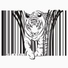 endangered TIGER BARCODE illustration by SFDesignstudio