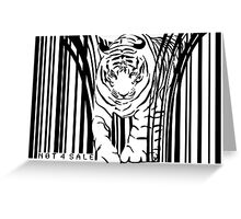 endangered TIGER BARCODE illustration Greeting Card