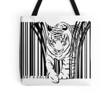 endangered TIGER BARCODE illustration Tote Bag