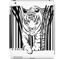 endangered TIGER BARCODE illustration iPad Case/Skin