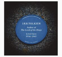Commemorative Plaque on J. R. R. Tolkien's Oxford Home by Nicole Petegorsky