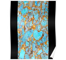 Turquoise and Gold iPhone / Samsung Galaxy Case Poster