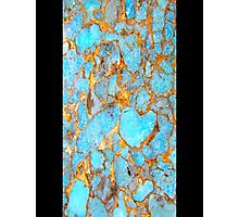 Turquoise and Gold iPhone / Samsung Galaxy Case Photographic Print
