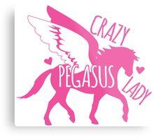 Crazy pegasus lady Metal Print