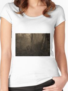 Sepia Times - Mount Wilson  NSW - The HDR Experience Women's Fitted Scoop T-Shirt
