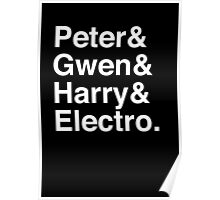 Peter & Gwen & Harry & Electro. (inverse) Poster