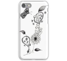 Flowers and Butterfly iPhone Case/Skin