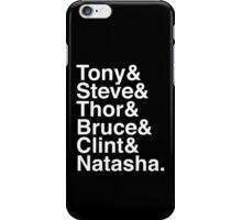 Tony & Steve & Thor & Bruce & Clint & Natasha. (inverse) iPhone Case/Skin