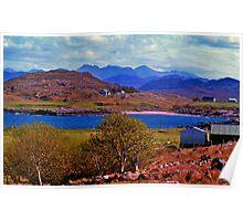 Crofting By Loch Ewe Poster