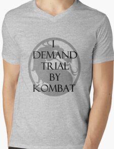 Trial by Kombat Mens V-Neck T-Shirt