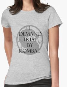 Trial by Kombat Womens Fitted T-Shirt