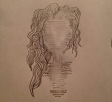 Faceless wavy-haired human. by audreyzolaa