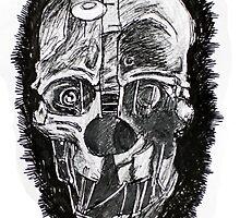 Skull Corvo's mask by ArtLuver