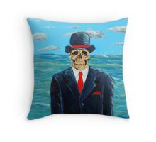 After Magritte Throw Pillow