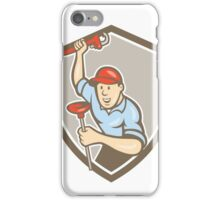 Plumber Wrench Plunger Front Shield Cartoon iPhone Case/Skin
