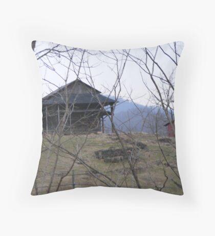 Old Barns Throw Pillow
