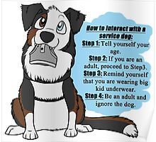 How To Interact With a Service Dog Poster