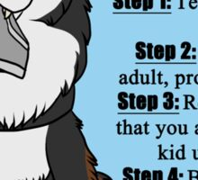 How To Interact With a Service Dog Sticker