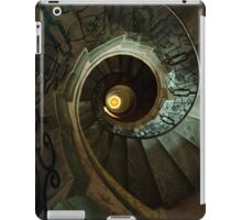 Brown and yellow spiral staircase iPad Case/Skin