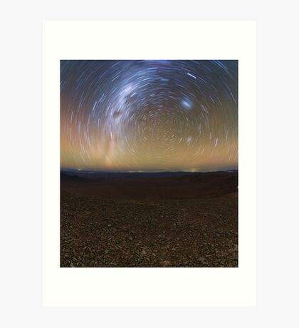Starry Night - Star Trails in the Night Sky Art Print