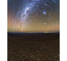 Starry Night - Star Trails in the Night Sky Photographic Print