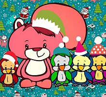 Mr. Squiggles and Friends Holiday Greeting by SquirrelCam