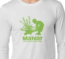 MayDay 2008: a celebration of work and family - Light Green print Long Sleeve T-Shirt