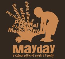 MayDay 2008: a celebration of work and family - Orange print by unionswa
