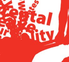 MayDay 2008: a celebration of work and family - Red print Sticker