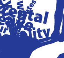 MayDay 2008: a celebration of work and family - Dark Blue print Sticker