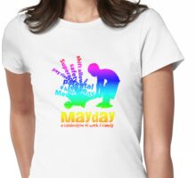 MayDay 2008: a celebration of work and family - Rainbow print Womens Fitted T-Shirt