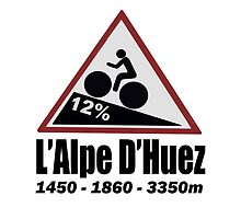 Tour de France Cycling Alpe d'Huez Shirt by movieshirtguy