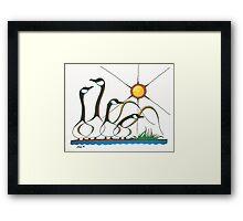 Gaggle of Canadian Geese Framed Print