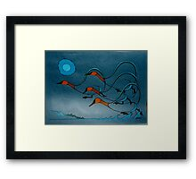 Geese Southbound Framed Print