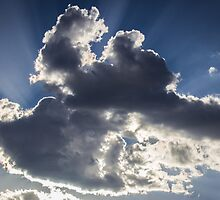 Clouds, sun burst #1 by shaynetwright