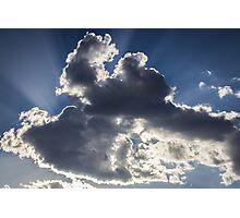 Clouds, sun burst #1 Photographic Print