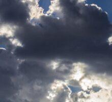 Clouds, sun burst #1 Sticker