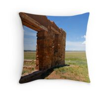 """""""Fort Union Wall"""" Throw Pillow"""