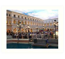 The Venetian Hotel Casino..Las Vegas Nevada Art Print