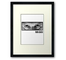 Hello Clarice Framed Print