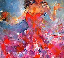 Passionate Dancer In Pink Dress - Art Prints by Ballet Dance-Artist