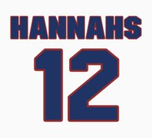 National baseball player Gerry Hannahs jersey 12 by imsport