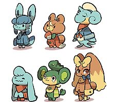 animal crossing pokemon crossover by MasterRacePC