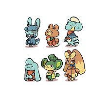 animal crossing pokemon crossover Photographic Print