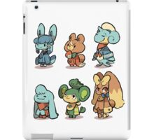 animal crossing pokemon crossover iPad Case/Skin