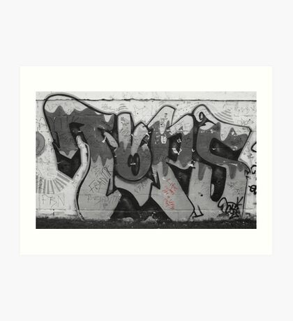 Life comes in a spray can Art Print