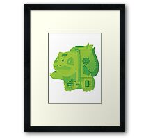 bulbasaur cool design old school pokemon Framed Print