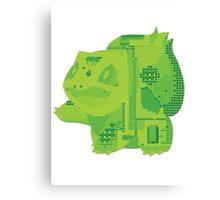 bulbasaur cool design old school pokemon Canvas Print