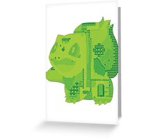bulbasaur cool design old school pokemon Greeting Card
