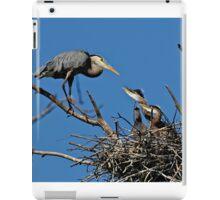Great Blue Heron with Babies - Ottawa, Ontario iPad Case/Skin